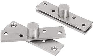Autoly 95x20mm/3.7''x0.78'' Stainless Steel 360 Degree Rotating Door Pivot Hinge Hidden Center Hung Hinge (2)