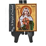 "Rich in color, exquisite design,Includes a Prayer Card Blessed by His Holiness ready to hang inside or outside Easel is not included - available in 4.25"" x 4.25"" -EASEL ONLY FOR DISPLAY - IT IS NOT INCLUDED Easel is included in the 6"" x 6"" - tile"