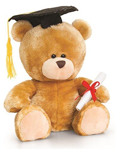 Lashuma Plüschtier Bär, Pipp The Bear Abitur Abschluss, Kuscheltier Diplom Teddybär mit Kleidung 14 cm