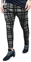 VonVonCo Men's Long Casual Sport Pants Slim Fit Plaid Trousers Running Joggers Sweatpants M-3XL