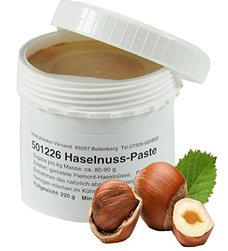 Hobbybäcker Haselnuss-Paste ► Zum Verfeinern von Eis, Pralinen, Desserts & Tortencremes, Köstlich-Nussiger Geschmack, 220g