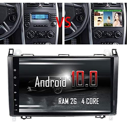 NBVNBV Android 10 Autoradio Lecteur Vidéo Multimédia de Voiture pour Mercedes B-ENZ B200 A B Class W169 W245 Viano Vito GPS de Navigation Auto Radio 2 Din Bluetooth,2g 16g LCD