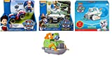 Paw Patrol Everest's Snow Plow, Paw Patrol, Jungle Rescue, Tracker's Jungle Cruiser & Paw Patrol Ryder's Rescue ATV, Including a Free Paw Patrol Rescue Racers, Rocky's Boat