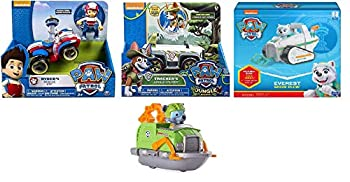 Paw Patrol Everest s Snow Plow Paw Patrol Jungle Rescue Tracker's Jungle Cruiser & Paw Patrol Ryder s Rescue ATV Including a Free Paw Patrol Rescue Racers Rocky's Boat