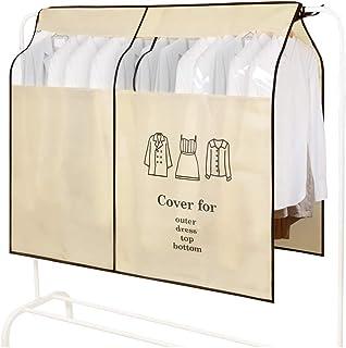 OTraki Housses de Vêtements Transparent Fenêtre Anti-Poussière Vêtements Housse Protège Portant Universelle Garment Covers...