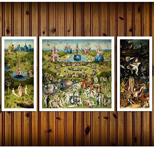Artwu Hieronymus Bosch's Garden of A Delights Store Earthly Wall Japan Maker New 3PCS