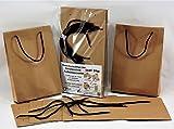 Bolsa de papel multirayas 22 + 6 x 40 cm Colores surtidos con cordón autobloqueo a juego (Habana natural)