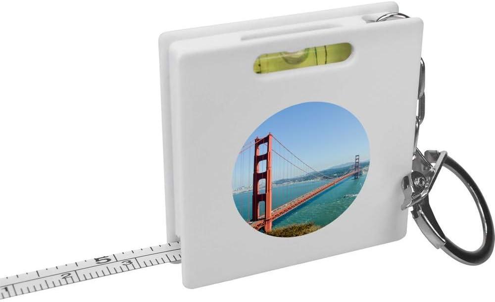 Azeeda 'Golden Super popular specialty store Gate Bridge' Keyring Tape Spirit Measure Latest item Level