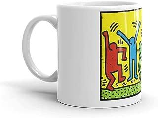Keith Haring 'Dance Party' Mug 11 Oz White Ceramic