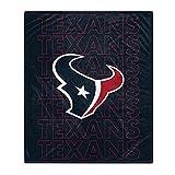 Pegasus Sports NFL Echo Team Wordmark Plush Blanket- Houston Texans, 60x70