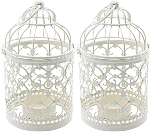 Jfs Birdcage Candle Holders Decoration,Metal Bird Cage Tealight Lanterns,Vintage Candle Stick Holders,Wedding or Home or Table Decoration