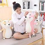Shiba Inu Linda muñeca de Juguete del Perro de Akita Plus muñeca de Juguete de Felpa Cama para Dormir muñeca Regalo de los niños,Rosado,45cm