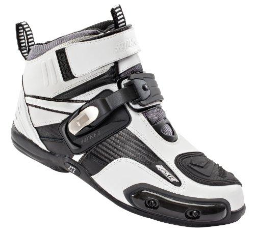 Joe Rocket Atomic Men's Motorcycle Riding Boots/Shoes (White/Black, Size 12)