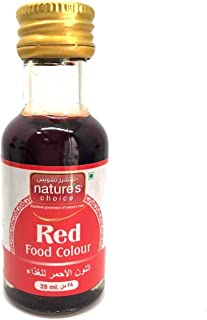 Natures Choice Food Colour, Red, 28 ml