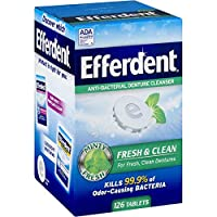 Efferdent Original Anti-Bacterial Denture Cleanser Products (126 Tablets (Pack of 2))