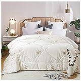 YRRA Edredón de 100% algodón, cómodo de noche, grueso, cálido, para invierno, suave, cálido, para ropa de cama, para el hogar, dormitorio, una colcha, 200 x 230 cm (4 kg)