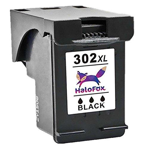 HaloFox 1 Cartucce d'inchiostro 302XL Alta Capacità 302 XL Nero Sostituzione per HP Deskjet 3630 3632 3634 3636 1110 2130 2132 2134 Envy 4520 4522 4523 4524 4527 Officejet 3830 4650 4658 Multifunzione Stampante