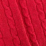Classic Red Wool Blend Cable Knit, Fabric by The Yard