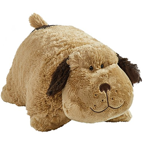 "Pillow Pets Snuggly Puppy - Originals 18"" Stuffed Animal Plush Toy, Brown"