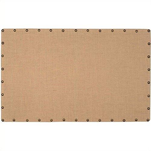 "Riverbay Furniture Large Burlap Corkboard with Nailhead Trim, 34"" x 55"""