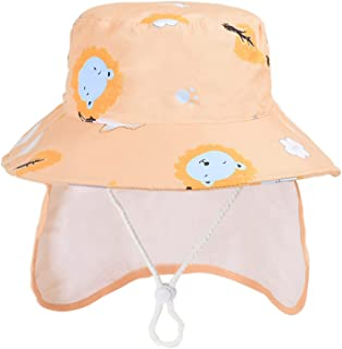 Summer Children's Bucket Hats Wide Brim Beach Sun Caps Fisherman's Hat Baby Kids Outdoor UV Protection Sun Hat