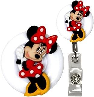 Minnie Mouse Real Charming Premium Decorative ID Badge Holder (Minnie Belt Clip HD)