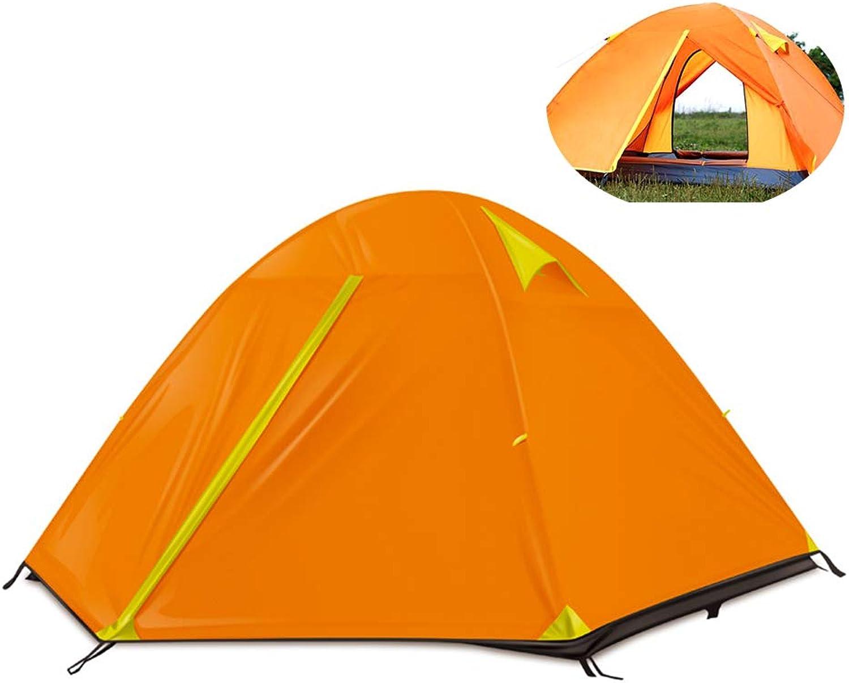 MIMI KING Zelt 3-4 Person Person Person Familie Leichtgewicht wasserdicht Doppel-Layer Camping Zent laminierte Aluminiumpol-Dome-Zelt für Outdoor B07Q4CTCJM  Trend 5ee4e4
