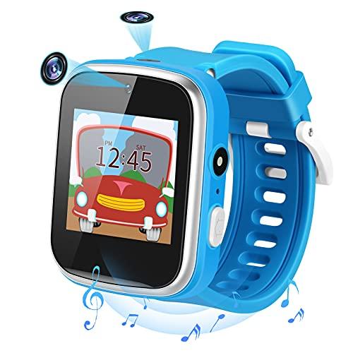 Smartwatch Kinder, Musik Kinder Smartwatch mit 2 Kameras, Uhr Kinder mit 9 Spiel Schrittzähler Touchscreen Taschenlampe, Kids Smart Watch für 3-15 Jahre alt Jungen Mädchen Geburtstags Geschenke
