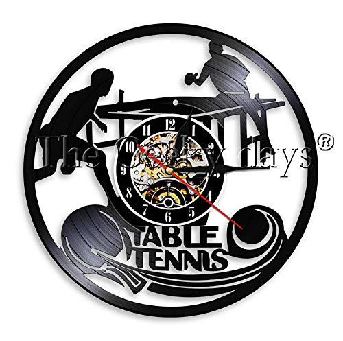 XZXMINGY Orologio in Vinile 30CM Gioca a Ping Pong Orologio da Parete Vinile LP Orologio da Tavolo Orologio da Tavolo Tennis Gioco Sport Orologio da Parete Vintage