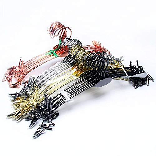 Zhaoyangeng 28 cm robuuste en duurzame, multifunctionele hoogwaardige metalen beugel ondergoed kleerhangers ondergoed beha-kleerhanger kleerhangerclip roestvrij stalen kleerhanger 3-delig @ Rose