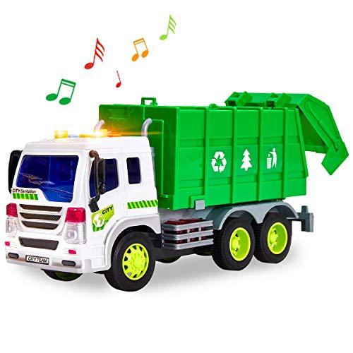 HERSITY 1:16 Müllauto Spielzeug mit Sound und Licht Müllwagen Kinder Großer LKW Autos Fahrzeuge Kinderspielzeug Geschenk für Kinder Jungen 3 Jahre