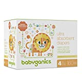 Diapers Size 4 160 ct Babyganics Ultra Absorbent Diapers Packaging May Vary