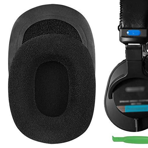 Geekria, cuscinetti sovrauricolari di ricambio per cuffie Sony MDR-7506, MDR-V6, MDR-CD900ST, in stoffa nera