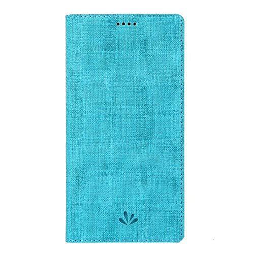 Xingyue Aile Hoezen & Hoezen Voor Motorola Moto One / P30 Play, Met Naam Kaart, Met De Magneet Flip, Met Ondersteuning Functie, Met Stitching, Met Smart Functie, Schokbestendige Bescherming Hoesje, Blauw