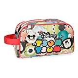 Disney Tsum Tsum Neceser Dos Compartimentos Adaptable Multicolor 26x16x12 cms Piel Sintética