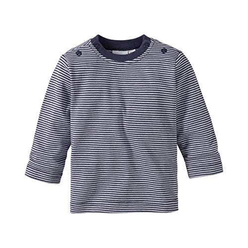 Bornino Shirt langarm Mouse & Elephant - Baby-Langarmshirt aus reiner Baumwolle mit Rundhalsausschnitt & Druckknöpfen an Schulter