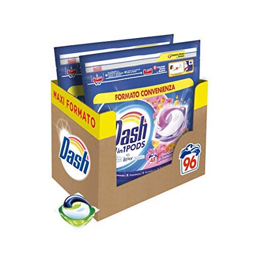 Dash Pods Allin1 Waschmittel in Kapseln für Frühling, Maxi-Format, 48 x 2 Stück, 96 Waschgänge