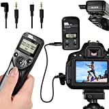 Wireless Shutter Release for Sony, Pixel 283-S1/S2 Camera Shutter Remote Control for Sony A7 A7II A7R A7S A6000 A58 A100 A200 A300 A500 A77