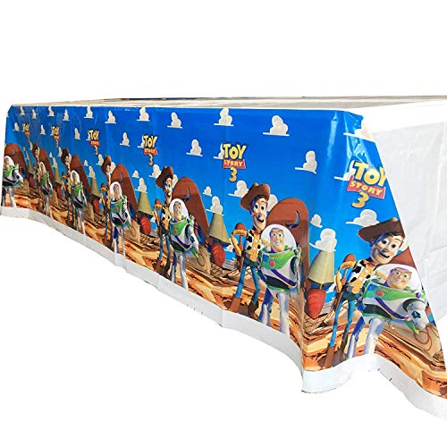 "Bsstr Toy Story Table Cover Party Supplies Decorations - Disposable Plastic Tablecloth | 70 x 42"", Disposable Table Cover 