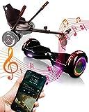 """ACBK Bluetooth UL2272 Hoverboard + Silla Kart, Juventud Unisex, Negro, Rueda LED 6.5"""""""