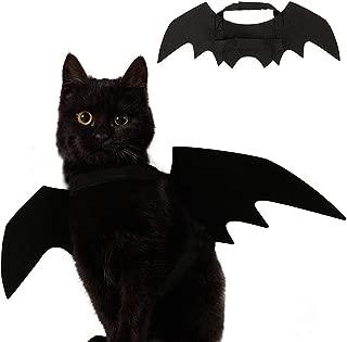 Ehdching Cat Costume Halloween Pet Bat Wings Cat Dog Costume