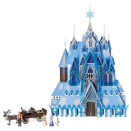DS Disney Store Castello Frozen 2 Il Segreto di Arendelle Set da Giocco Luci Anna Elsa Kristoff Olaf Sven Originale