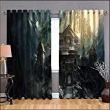 Game of Thrones Ironrath Printed 3D Grommet Window Treatment Set Window Curtains 2 Drape Panels Curtains for Kid Adult Living Room Laundry Bedroom, Bedroom