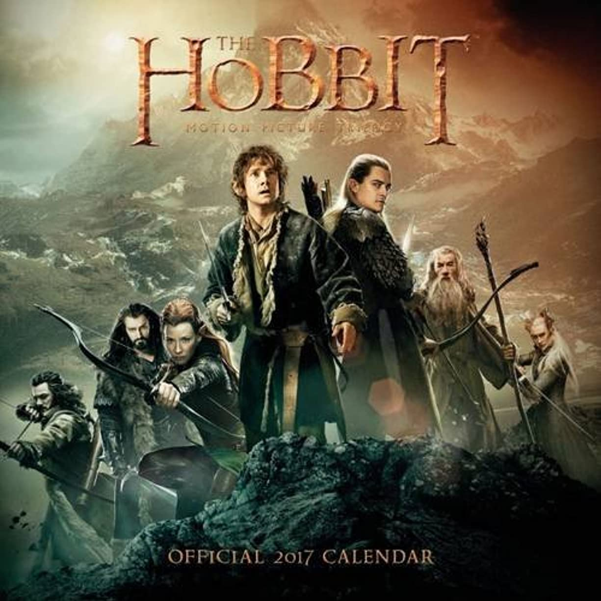 応答政権唯一The Hobbit Official 2017 Square Calendar (Calendar 2017)