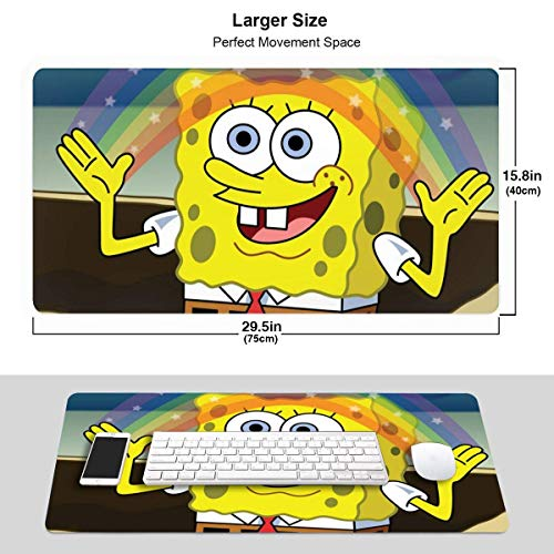 Spongebob Rainbow Extended Gaming Mouse Pad con Base Antideslizante MPD-941