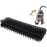hujio Aoligei Alfombrilla Repelente para Gatos, con Uñas en Forma de U, se Puede Cortar, Tamaño Combinado, Pinchos Anti Gatos, para la Protección del Jardín Librementesmall