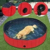 PETS EMPIRE PVC Foldable Bath Swimming Pool Washing Tub for Outdoor for Dog Puppy (Large, 80x30 cm)