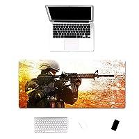 860114de - CSGO ゲーミング マウスパッド Counter-Strikeラージマウスパッドゲーマービッグマウスマットコンピューターゲーミングマウスパッドキーボードデスクマット ゲーミング オフィス最適 防水 滑り止め 耐久性が良いゲーム おしゃれ,オフィス サイバーカフェなど