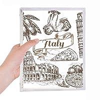 有名な旅行の場所イタリア景観パターン 硬質プラスチックルーズリーフノートノート