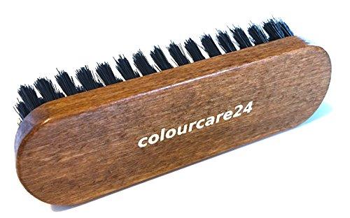Colourcare24 Brosse pour cuir, 135 x 40 mm, nettoyage intérieur de voiture, siège et volant